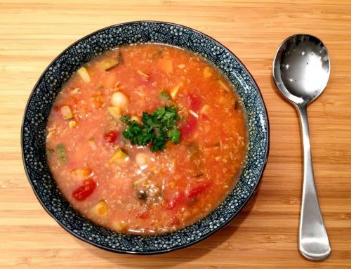 Chicken Minestrone Soup With Quinoa